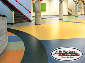 commercial sheet vinyl flooring is an excellent choice for both retail and public spaces it is commonly used in high foot traffic areas like bathrooms and