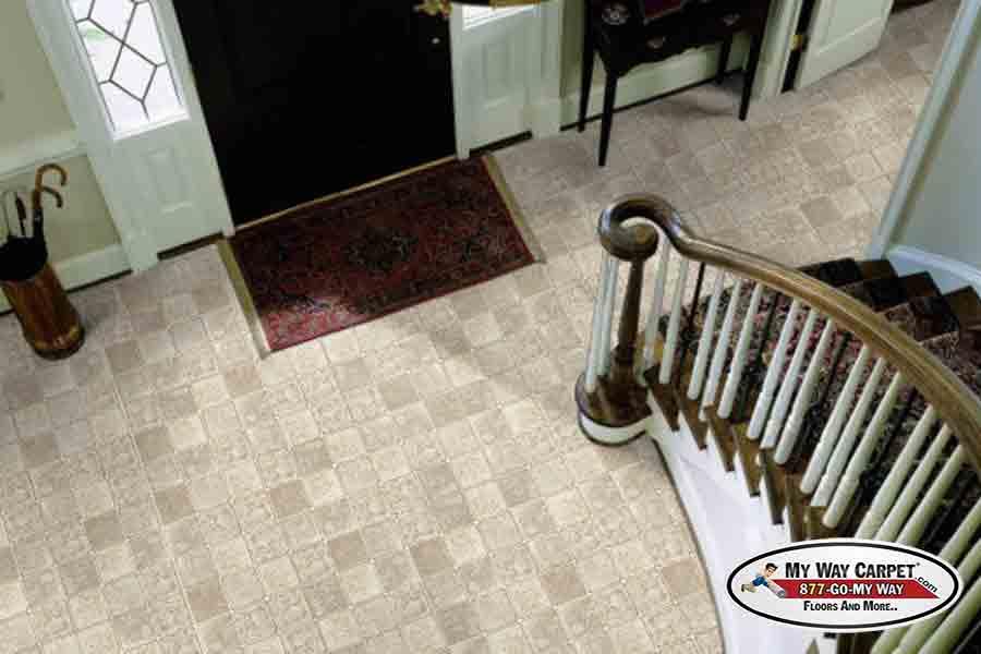 Congoleum Flooring Duraceramic Dimensions Turret Gray Airstep Cozumel Up